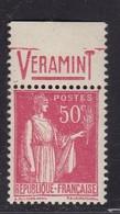 PUBLICITE: TYPE PAIX 50C ROUGE RICQLES-veramint ACCP 912 NEUF* - Advertising