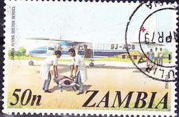 Sambia Zambia - Rotkreuz-Flugzeug (Mi.Nr.:152) 1975 - Gest Used Obl - Zambia (1965-...)