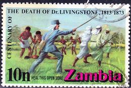 Sambia Zambia - 100. Todestag Von David Livingstone (Mi.Nr.:105) 1973 - Gest Used Obl - Zambia (1965-...)
