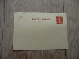 Entier France Vierge Type Semeuse 90c Rouge Carte Postale CP1 Sans Date Valeur 95€ - Standard- Und TSC-AK (vor 1995)