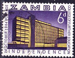 Sambia Zambia - College Für Erziehung In Lusaka (Mi.Nr.:16) 1964 - Gest Used Obl - Zambia (1965-...)