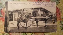 Uzbekistan - Turkestan - Uzbek Types. Fruits Market  -  Old Postcard 1920s - Uzbekistan