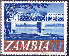 Sambia Zambia - Eisenbahnbrücke über Den Kafue (Mi.Nr.:49) 1968 - Gest Used Obl - Zambia (1965-...)