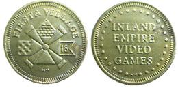 03410 GETTONE TOKEN JETON AMUSEMENT ARCADE MACHINE INLAND EMPIRE VIDEO GAMES - USA