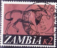 Sambia Zambia - Elen-Antilope (Taurotragus Oryx) (Mi.Nr.:50) 1968 - Gest Used Obl - Zambia (1965-...)