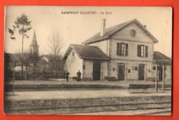 TRK-40 Sampigny Meuse, La Gare . Animé. Message émouvant D'un Militaire Au Dos En 1914 - France