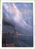 Verses Of The Block In Illustrations By I. Glazunov.  Locomotive, Woman, Station. Art USSR Russia Postcard - Russia