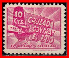ESPAÑA  SELLO….. GUERRA CIVIL CRUZADA CONTRA EL FRIO - 1931-50 Nuevos & Fijasellos