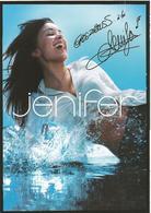 JENIFER  /  Chanteuse  /  Signature  Autographe - Chanteurs & Musiciens