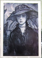 Verses Of The Block In Illustrations By I. Glazunov. Beautiful Lady. Prekrasnaya Dama. Art USSR Russia Postcard - Russia