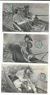 COUPLE - Comme On Pêche à Vingt Ans  - Lot De 6 Cartes Postales - Couples