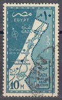 EGITTO - 1957 - Yvert 395 Obliterato, 10 M, Verde/blu. - Egitto