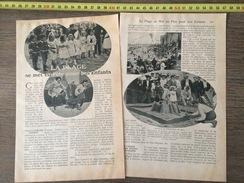 DOCUMENT 1908 PLAGE SE MET EN FETE POUR NOS ENFANTS CONCOURS DE FORTERESSES EN SABLE BLANKENBERGHE BLANKENBERGE - Vieux Papiers