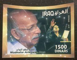 Iraq 2018 Poet Mudhafar Nawab MNH  Hologram 3D SS - Iraq