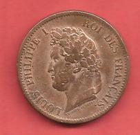5 Cent , 1843 A , LOUIS PHILIPPE , Emission Générale Pour Les Colonies , Frappé Pour Les Iles MARQUISES , N° G : 311 - Colonies