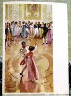 War And Peace Leo Tolstoy. Natasha Rostova And Andrei Bolkonsky At The Ball. Large Art USSR Russia Postcard - Russia