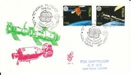 1991 - EUROPA LO SPAZIO - FDC VENETIA - F.D.C.