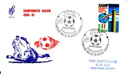 1991 - SAMPDORIA CAMPIONE D'ITALIA - FDC VENETIA - F.D.C.