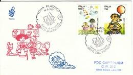 1991 - DIRITTI INFANZIA - FDC VENETIA - F.D.C.