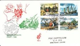 1992 - COLOMBO ITALIA USA - FDC VENETIA - F.D.C.