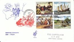 1992 - COLOMBO USA ITALIA Emissione Congiunta - FDC VENETIA - F.D.C.