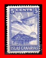 ESPAÑA SELLO VIÑETA ISLAS CANARIAS DE LA GUERRA CIVIL 5 CENTIMOS - 1931-50 Nuevos & Fijasellos