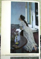 War And Peace Leo Tolstoy. Natasha Rostova, Night Thoughts. Large Art USSR Russia Postcard - Women