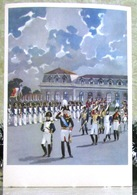War And Peace Leo Tolstoy. Russian Emperor Alexander I And Napoleon. Large Art USSR Russia Postcard - Historical Famous People