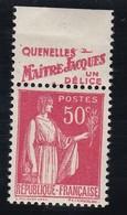 PUBLICITE: TYPE PAIX 50C ROUGE FAUROY-quenelles Maître Jacques ACCP 794 NEUF* - Advertising