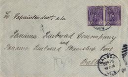 1918 , PERÚ , SOBRE CIRCULADO ENTRE CHICLAYO Y BALBOA ( PANAMA ) , LLEGADA - Perú
