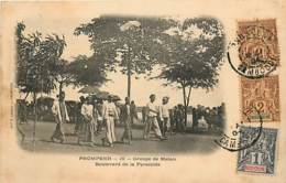 CAMBODGE PNOMPENH GROUPE DE MALAIS BOULEVARD DE LA PYRAMIDE OBLITERATION PAQUEBOT - Cambodia