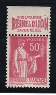 PUBLICITE: TYPE PAIX 50C ROUGE FAUROY-moutarde Reine De Dijon ACCP 796 NEUF** - Advertising