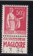 PUBLICITE: TYPE PAIX 50C ROUGE CALVADOS MAGLOIRE ACCP 773 NEUF* - Advertising