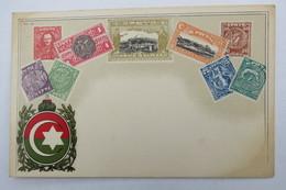 """(10/8/1) Postkarte/AK """"verschiedene Briefmarken Von Creta"""", Mit Wappen, Um 1900 - Timbres (représentations)"""