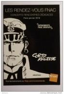 CORTO MALTESE - BANDE DESSINEE // BD - Carte Publicitaire FNAC - Bandes Dessinées