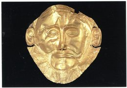 Mycenae. Grave Circle A. Gold Mask. Mycènes. Cercle Funéraire A. Masque D'or. Mykene. Gräberrund A. Goldene Maske. - Grèce