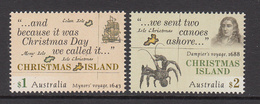 2017 Christmas Island Explorers Maps Crabs   Complete Set Of 2 MNH  @ Below FACE VALUE - Christmas Island