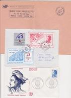 Lot 3 Lettres Oblitération Diverses Des Bureaux Temporaires De PARIS Dont BUREAU TEMPORAIRE N°1 1989 - Marcophilie (Lettres)