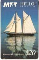 CANADA - Blue Nose II/Nova Scotia, MT&T Prepaid Card $20, Tirage 5000, 11/95, Used - Canada