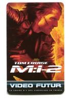 Carte VIDEO FUTUR - N°158 - Film De Cinéma - M:i-2 - Tom Cruise - Frankrijk