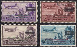 EGITTO - Lotto Composto Da 4 Valori Usati Assortiti Per La Posta Aerea: Yvert 59, 62, 64 E 77 - Luchtpost