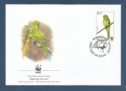 Mauritius  2003 , Mauritius Parakeet / Mauritius-Sittich - WWF Official First Day Cover 19.03.2003 - Maurice (1968-...)