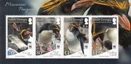 2017 South Georgia WWF Penguins  Miniature Sheet Of 4 MNH @   FACE VALUE - Géorgie Du Sud