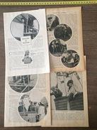 ANCIEN DOCUMENT 1908 MADAME EST EN BALLON THERESE PELTIER AEROPLANE DELAGRANGE MISS HARBORD MLLE MASSON - Vieux Papiers