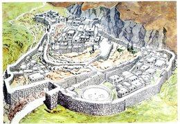 Mycenae. Plan And Reconstruction Of The Archaelogical Site. Mycènes. Site Archéologique. Mykene. Archaologischen Statten - Grèce