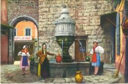 Cp VENCE 06 - Fontaine Du Peyra (animée) N° 3937 - Vence