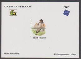 NA 38 - Boerenzwaluw - Hirondelle Rustique - Niet Aangenomen Ontwerp - Projet Non Adopté - Belgique