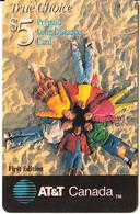 CANADA - Children, AT&T Canada Prepaid Card $5, Exp.date 31/12/98, Used - Canada