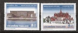 Thailand 2002 Dusit Maha Prasat, Bangkok, Royal Castle, Stockholm, Joint Issue With Sweden, Mi 2150-2151, MNH(**) - Thaïlande