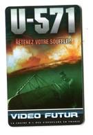 Carte VIDEO FUTUR - N°157 - Film De Cinéma - U-571 - Frankrijk